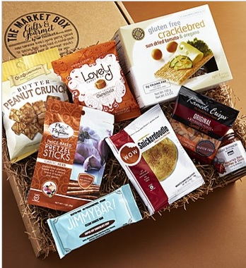 Gift bundles include a gluten-free market box.