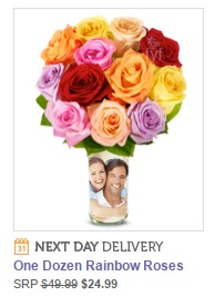 Design your own vase with a photo, delivered with flowers.